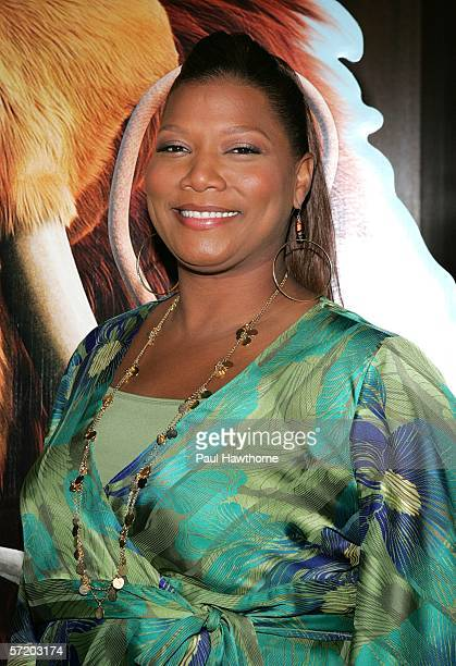 Actress Queen Latifah attends a special screening of 'Ice Age The Meltdown' presented by Twentieth Century Fox and NBA Cares at the Ziegfeld Theatre...
