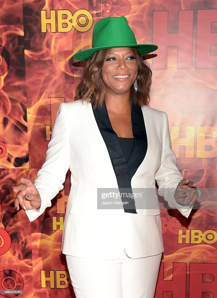 Actress Queen Latifah attends HBO's Official 2015 Emmy After Party at The Plaza at the Pacific Design Center on September 20 2015 in Los Angeles...