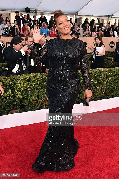 Actress Queen Latifah attends the 22nd Annual Screen Actors Guild Awards at The Shrine Auditorium on January 30 2016 in Los Angeles California