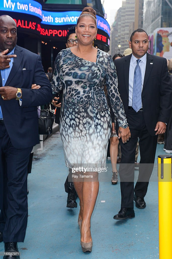 Actress Queen Latifah enters the 'Good Morning America' taping at the ABC Times Square Studios on October 3 2012 in New York City