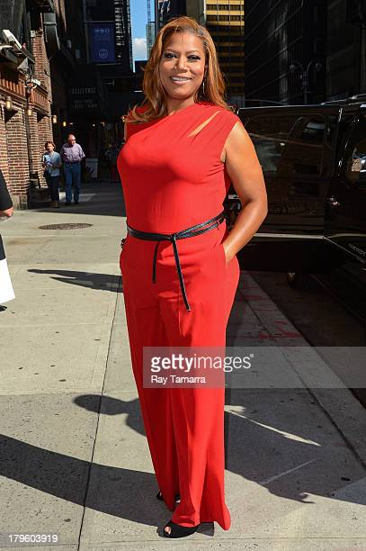 Actress Queen Latifah leaves the 'Late Show With David Letterman' taping at the Ed Sullivan Theater on September 5 2013 in New York City