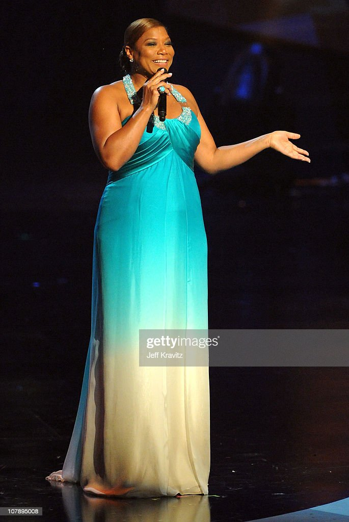 Actress Queen Latifah speaks onstage during the 2011 People's Choice Awards at Nokia Theatre LA Live on January 5 2011 in Los Angeles California