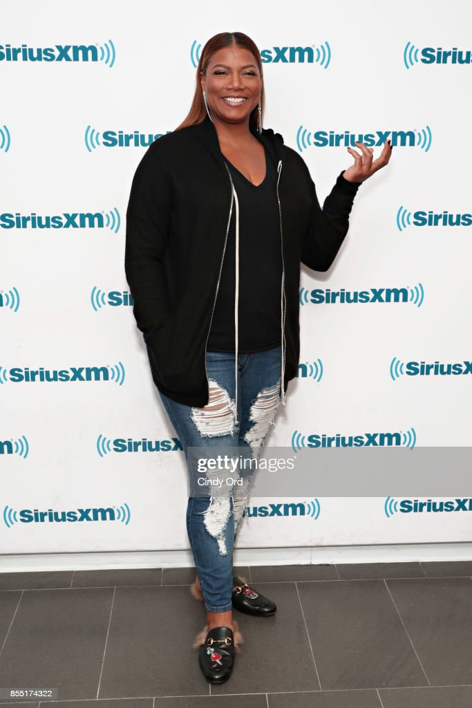 Actress Queen Latifah visits the SiriusXM Studios with American Heart Association to talk about heart failure on September 28, 2017 in New York City.