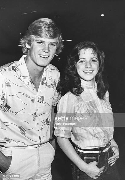 Actress Quinn Cummings with her date David Wallace attending the 'Hill Street Blues' television party at La Masia restaurant West Hollywood April 1981
