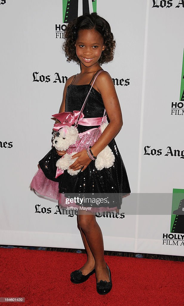 Actress Quvenzhané Wallis arrives at the 16th Annual Hollywood Film Awards Gala presented by The Los Angeles Times held at The Beverly Hilton Hotel on October 22, 2012 in Beverly Hills, California.