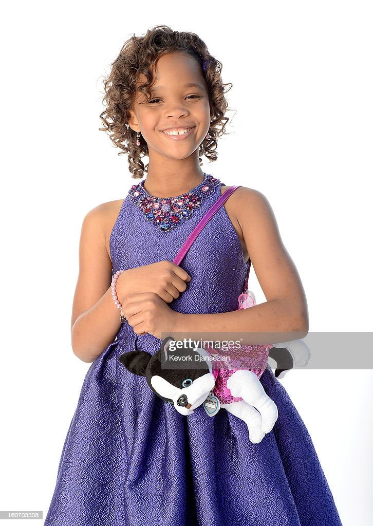 Actress Quvenzhané Wallis poses for a portrait during the 85th Academy Awards Nominations Luncheon at The Beverly Hilton Hotel on February 4, 2013 in Beverly Hills, California.