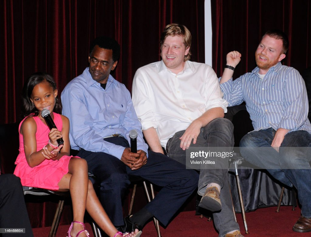Actress Quvenzhane Wallis, actor Dwight Henry, producer Dan Janvey and producer Michael Gottwald attend 'Beasts Of The Southern Wild' Special Screening - Panel And Q&A at Soho House on June 16, 2012 in West Hollywood, California.