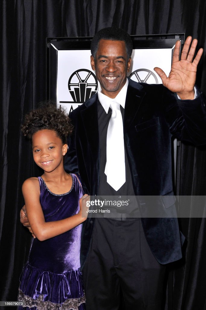 Actress Quvenzhane Wallis and actor Dwight Henry arrives at the 38th Annual Los Angeles Film Critics Association Awards at InterContinental Hotel on...
