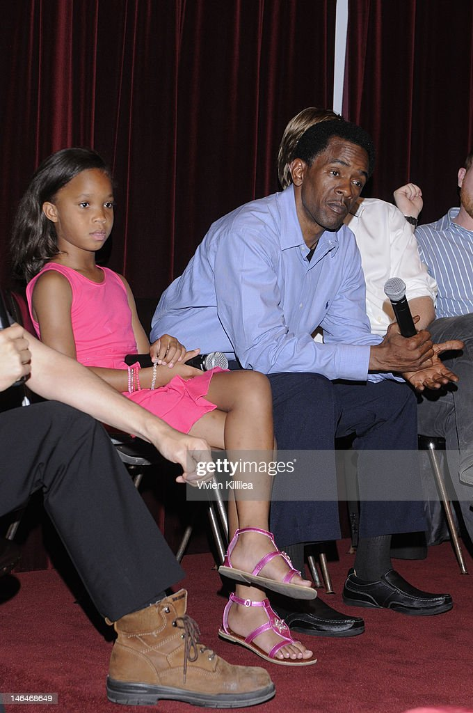 Actress Quvenzhane Wallis and actor Dwight Henry attend 'Beasts Of The Southern Wild' Special Screening - Panel And Q&A at Soho House on June 16, 2012 in West Hollywood, California.