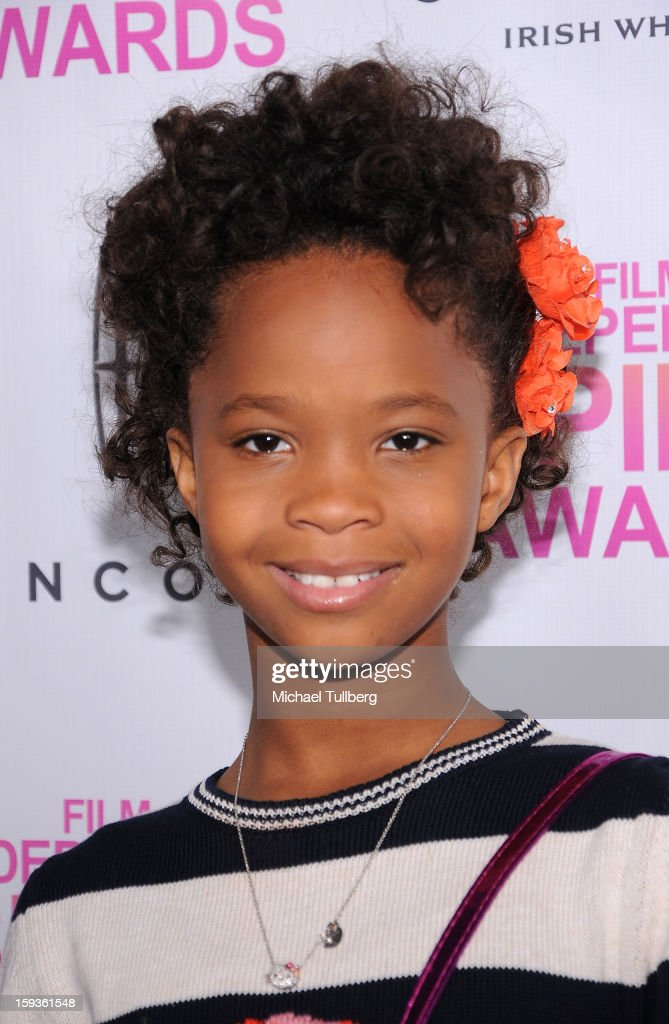 Actress Quvenzhane Wallis arrives at a brunch honoring the nominees for the 2013 Film Independent Filmmaker Grant and Spirit Awards at BOA Steakhouse on January 12, 2013 in West Hollywood, California.