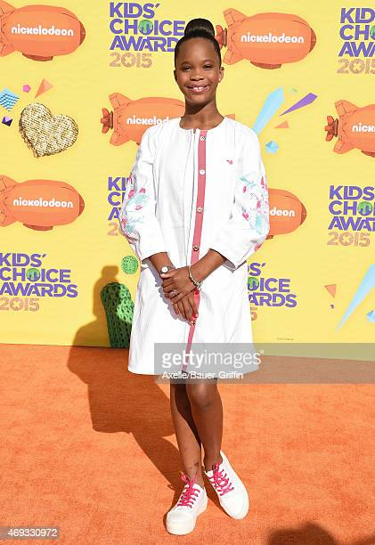 Actress Quvenzhane Wallis arrives at Nickelodeon's 28th Annual Kids' Choice Awards at The Forum on March 28 2015 in Inglewood California