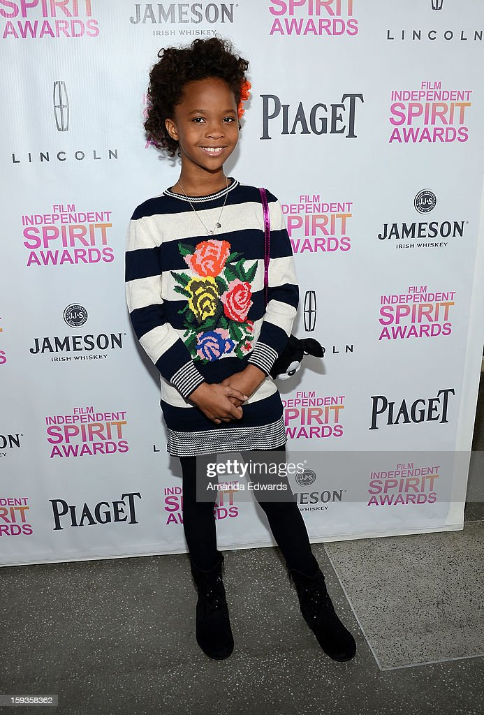 Actress Quvenzhane Wallis arrives at the 2013 Film Independent Filmmaker Grant And Spirit Awards Nominees Brunch at BOA Steakhouse on January 12, 2013 in West Hollywood, California.