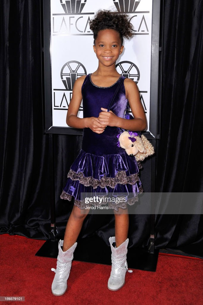 Actress Quvenzhane Wallis arrives at the 38th Annual Los Angeles Film Critics Association Awards at InterContinental Hotel on January 12, 2013 in Century City, California.