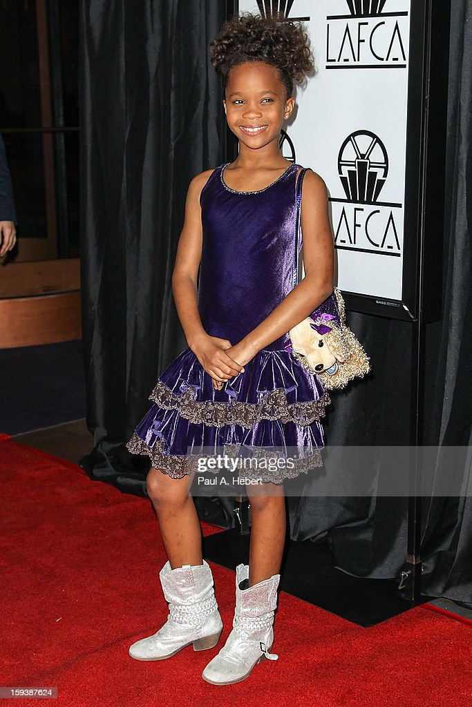 Actress Quvenzhane Wallis arrives at the 38th Annual Los Angeles Film Critics Association Awards held at the InterContinental Hotel on January 12, 2013 in Century City, California.