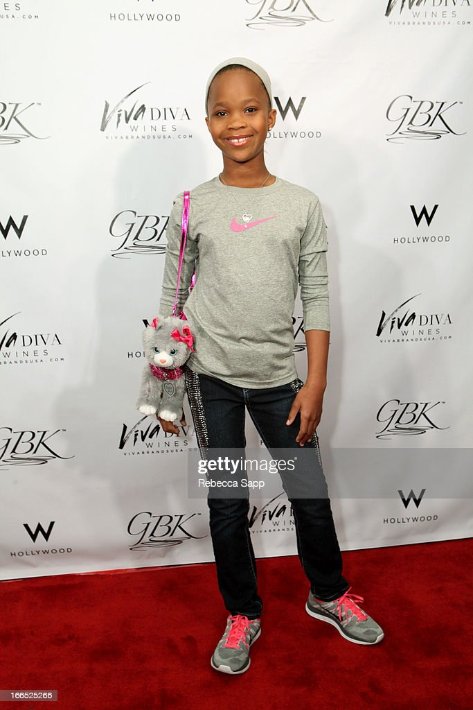 Actress Quvenzhane Wallis at GBK Gift Lounge In Honor Of The MTV Movie Award Nominees And Presenters - Day 2 at W Hollywood on April 13, 2013 in Hollywood, California.