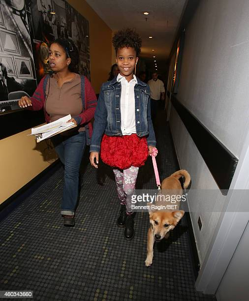 Actress Quvenzhane Wallis attends 106 Park at BET studio on December 11 2014 in New York City