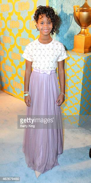 Actress Quvenzhane Wallis attends HBO's post Golden Globe Awards party at The Beverly Hilton Hotel on January 11 2015 in Beverly Hills California