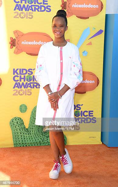 Actress Quvenzhane Wallis attends Nickelodeon's 28th Annual Kids' Choice Awards held at The Forum on March 28 2015 in Inglewood California