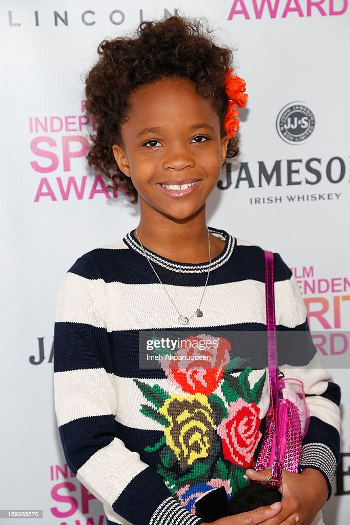 Actress Quvenzhane Wallis attends the 2013 Film Independent Filmmaker Grant And Spirit Award Nominees Brunch at BOA Steakhouse on January 12, 2013 in West Hollywood, California.