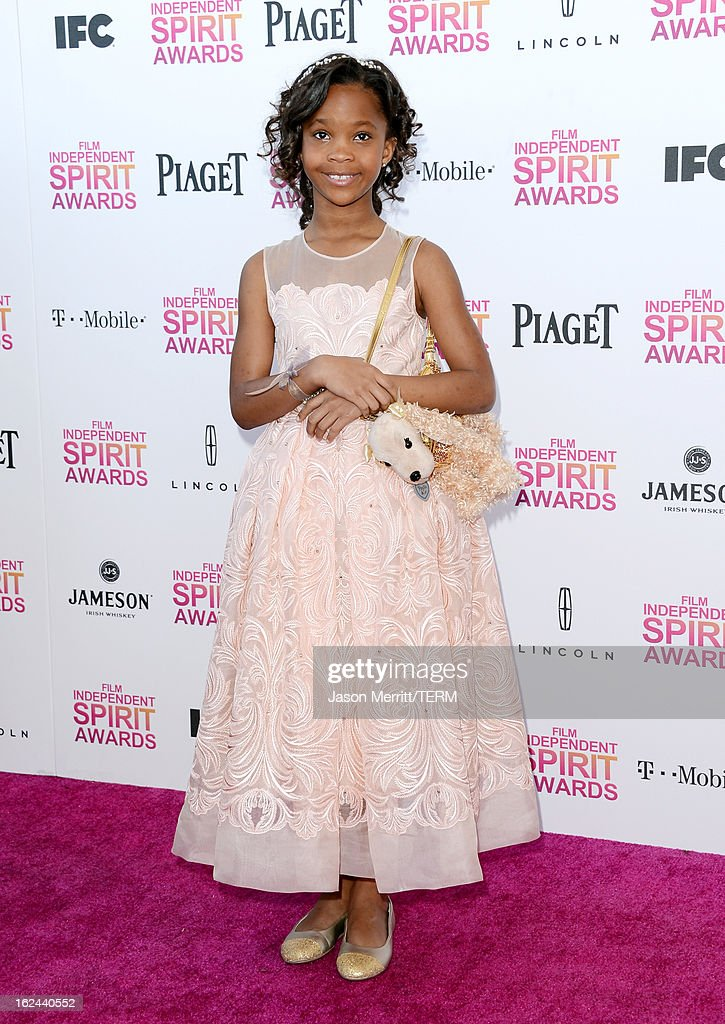 Actress Quvenzhane Wallis attends the 2013 Film Independent Spirit Awards at Santa Monica Beach on February 23, 2013 in Santa Monica, California.
