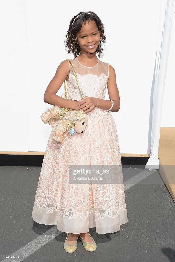 Actress Quvenzhane Wallis attends the 2013 Film Independent Spirit Awards at Santa Monica Beach on February 23, 2013 in Santa Monica, California.
