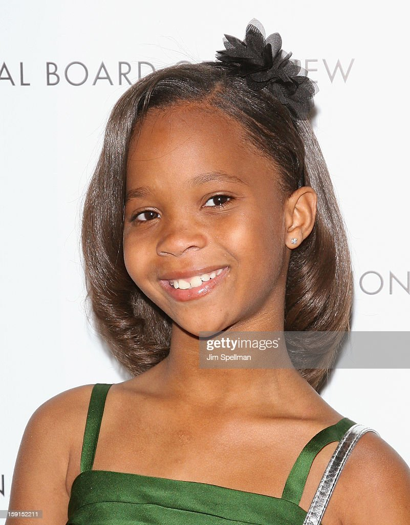 Actress Quvenzhane Wallis attends the 2013 National Board Of Review Awards Gala at Cipriani Wall Street on January 8, 2013 in New York City.