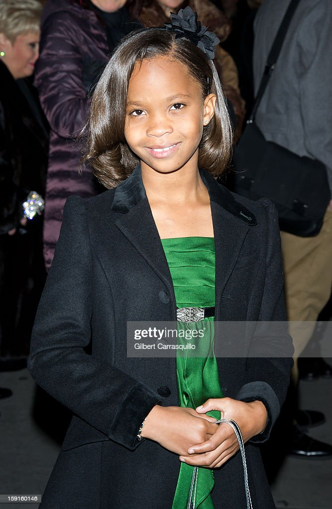 Actress Quvenzhane Wallis attends the 2013 National Board Of Review Awards at Cipriani 42nd Street on January 8, 2013 in New York City.