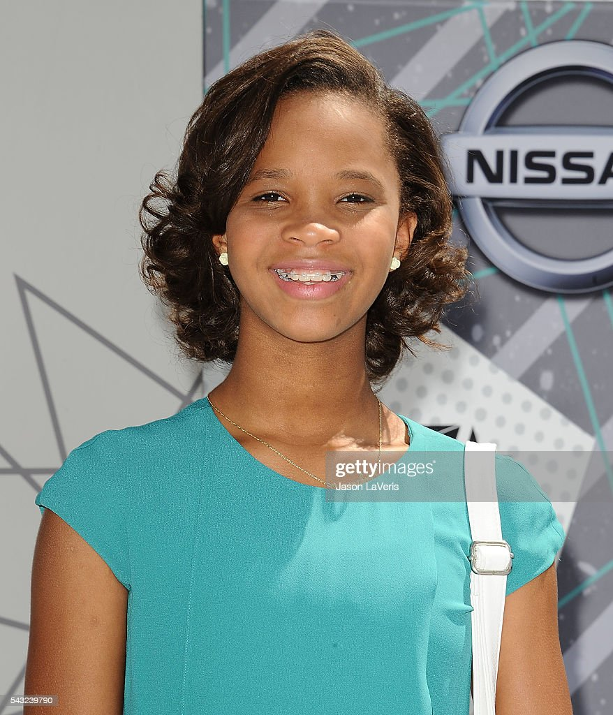Actress Quvenzhane Wallis attends the 2016 BET Awards at Microsoft Theater on June 26, 2016 in Los Angeles, California.