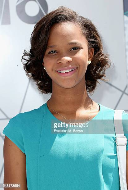 Actress Quvenzhane Wallis attends the 2016 BET Awards at the Microsoft Theater on June 26 2016 in Los Angeles California