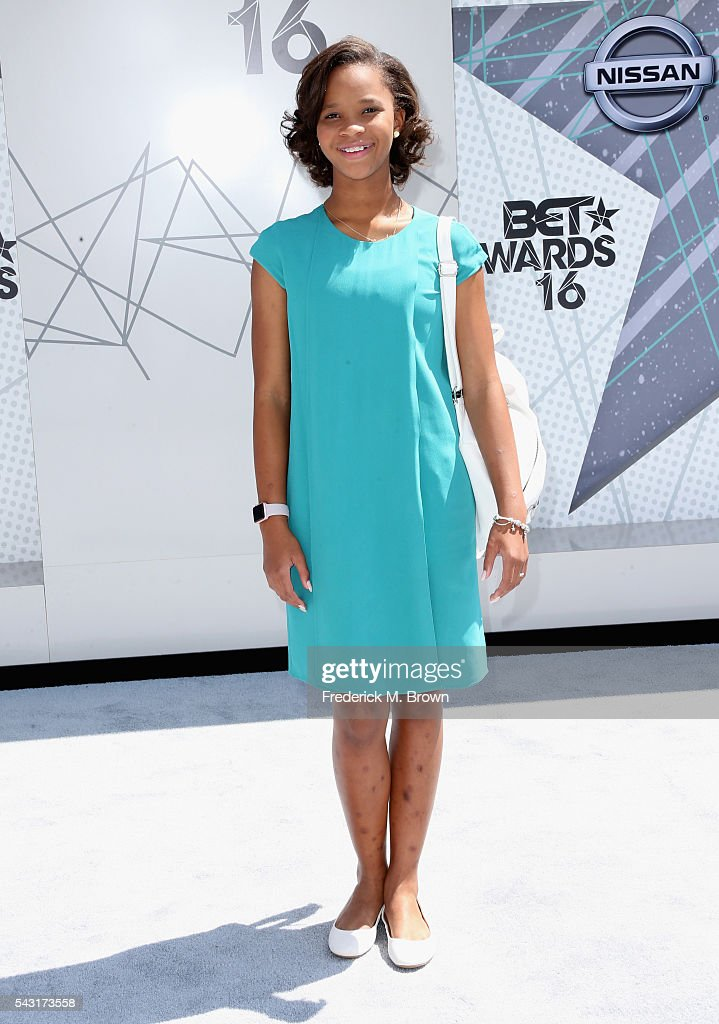 Actress Quvenzhane Wallis attends the 2016 BET Awards at the Microsoft Theater on June 26, 2016 in Los Angeles, California.