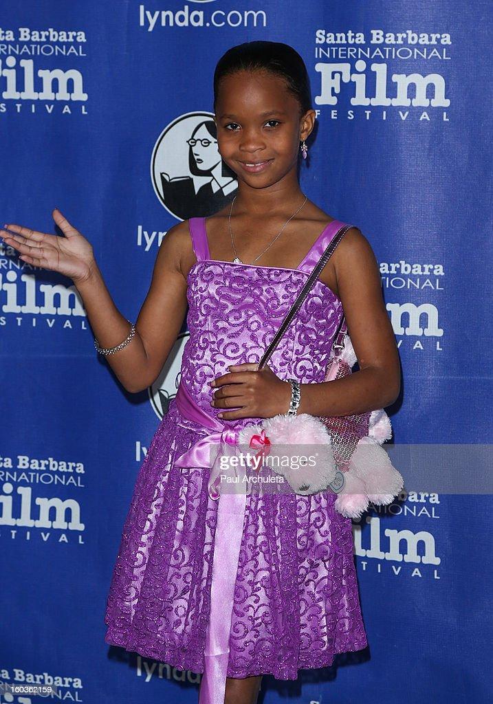 Actress Quvenzhane Wallis attends the 28th Santa Barbara International Film Festival Virtuoso Award Ceremony at The Arlington Theatre on January 29, 2013 in Santa Barbara, California.