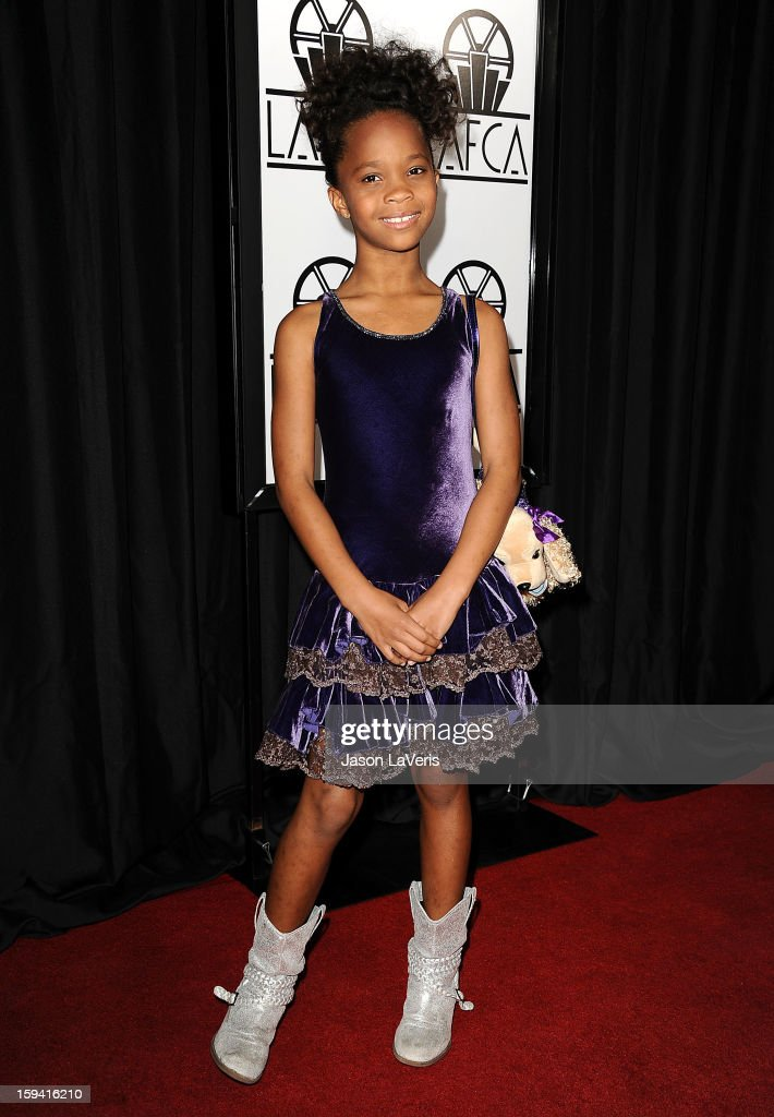 Actress Quvenzhane Wallis attends the 38th annual Los Angeles Film Critics Association Awards at InterContinental Hotel on January 12, 2013 in Century City, California.