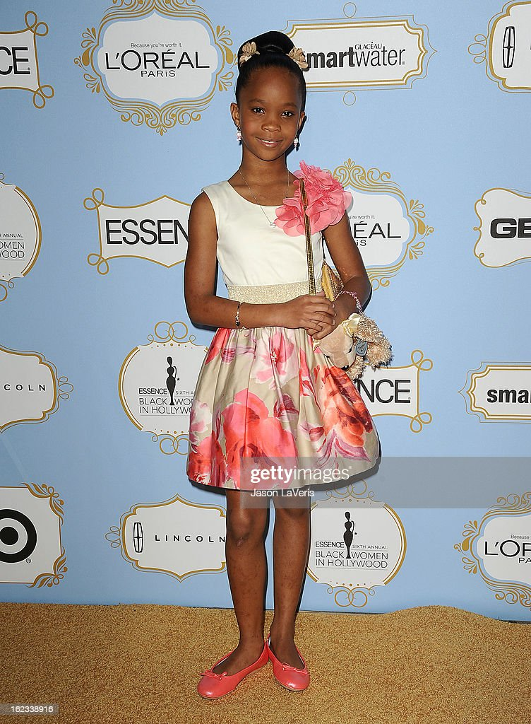 Actress Quvenzhane Wallis attends the 6th annual ESSENCE Black Women In Hollywood awards luncheon at Beverly Hills Hotel on February 21, 2013 in Beverly Hills, California.