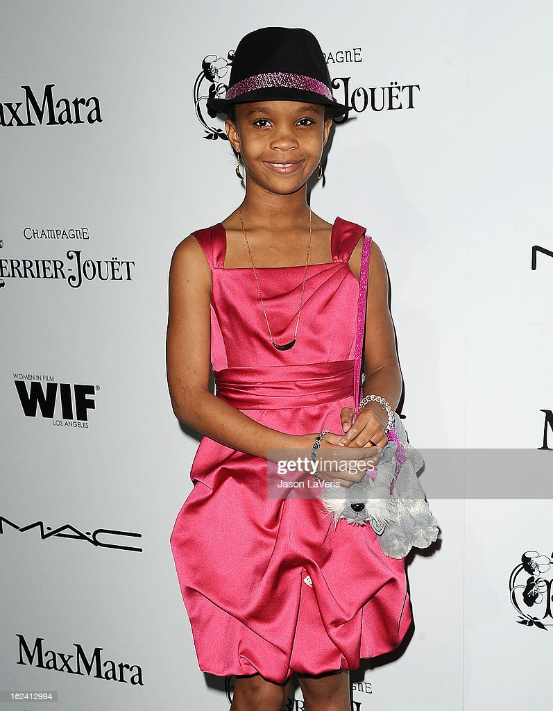 Actress Quvenzhane Wallis attends the 6th annual Women In Film pre-Oscar cocktail party at Fig & Olive Melrose Place on February 22, 2013 in West Hollywood, California.