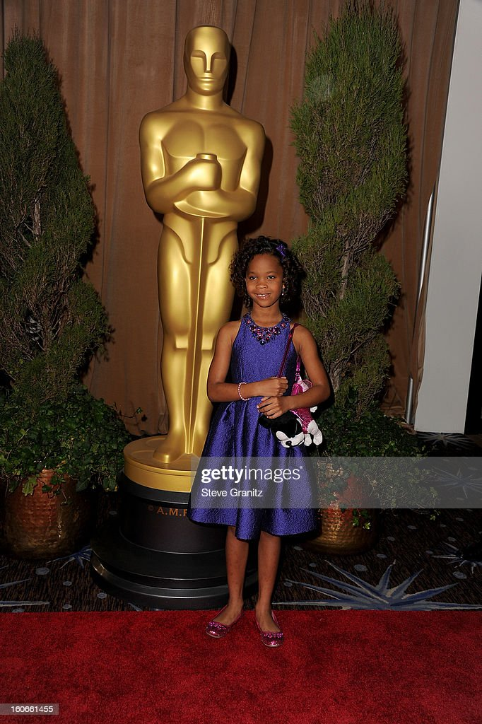 Actress Quvenzhane Wallis attends the 85th Academy Awards Nominations Luncheon at The Beverly Hilton Hotel on February 4, 2013 in Beverly Hills, California.