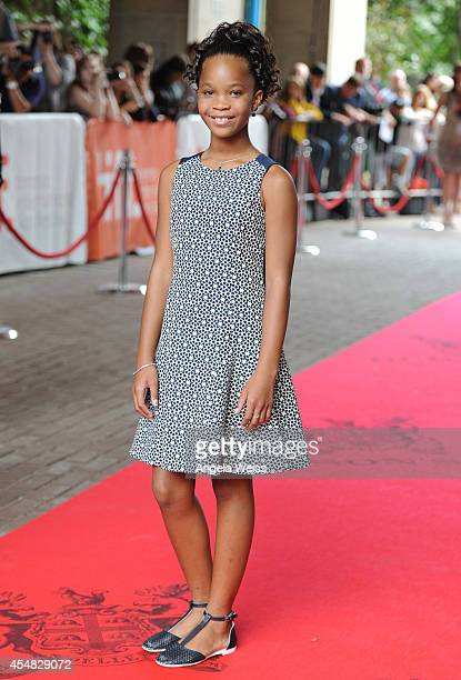 Actress Quvenzhane Wallis attends the 'Kahlil Gibran's The Prophet' premiere during the 2014 Toronto International Film Festival at Ryerson Theatre...