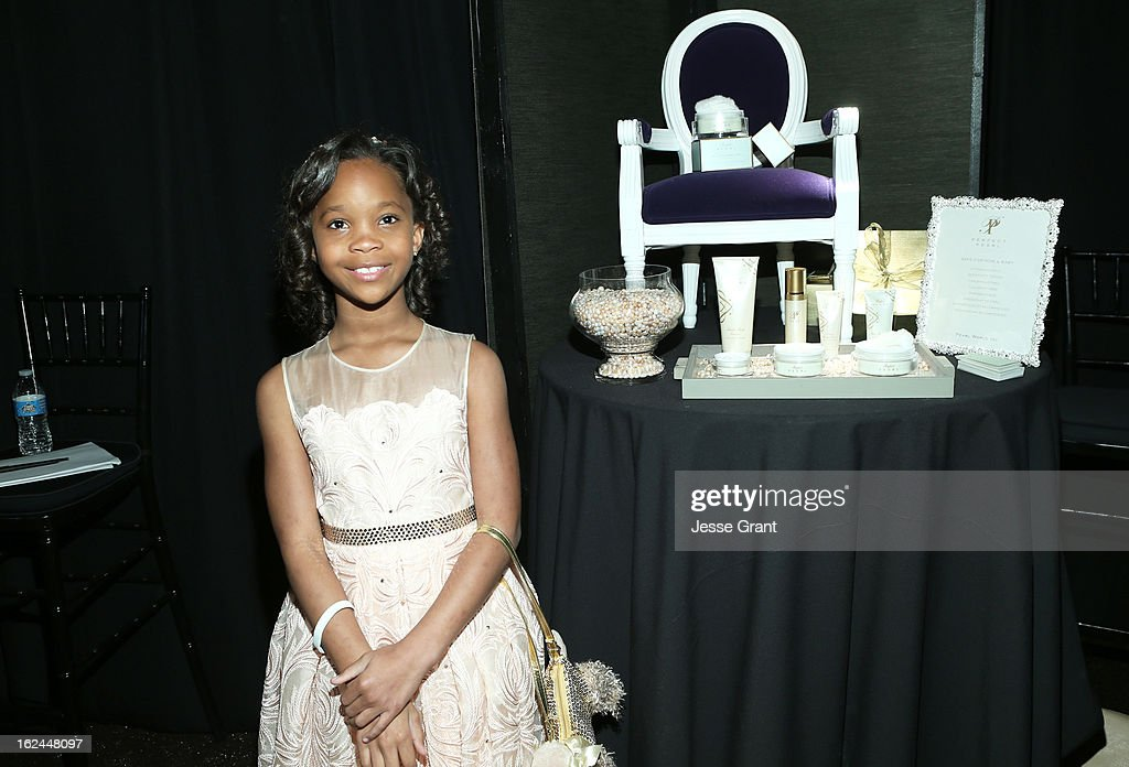 Actress Quvenzhane Wallis attends the On3 Official Presenter Gift Lounge during the 2013 Film Independent Spirit Awards at Santa Monica Beach on February 23, 2013 in Santa Monica, California.