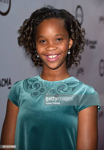 Actress Quvenzhane Wallis attends the screening of GKIDS' 'Kahlil Gibran's the Prophet' at Bing Theatre at LACMA on July 29 2015 in Los Angeles...