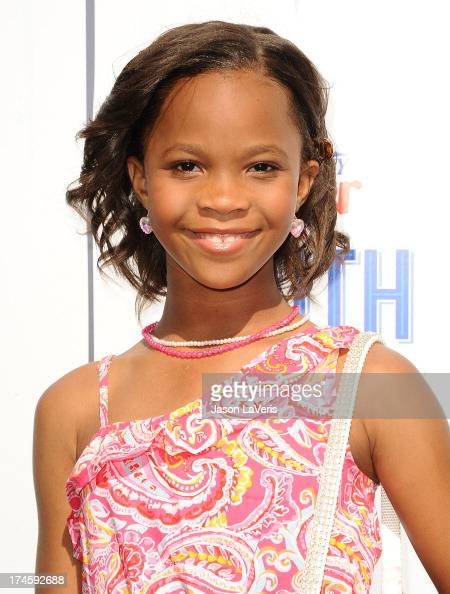 Actress Quvenzhane Wallis attends Variety's 7th annual Power of Youth event at Universal Studios Hollywood on July 27 2013 in Universal City...