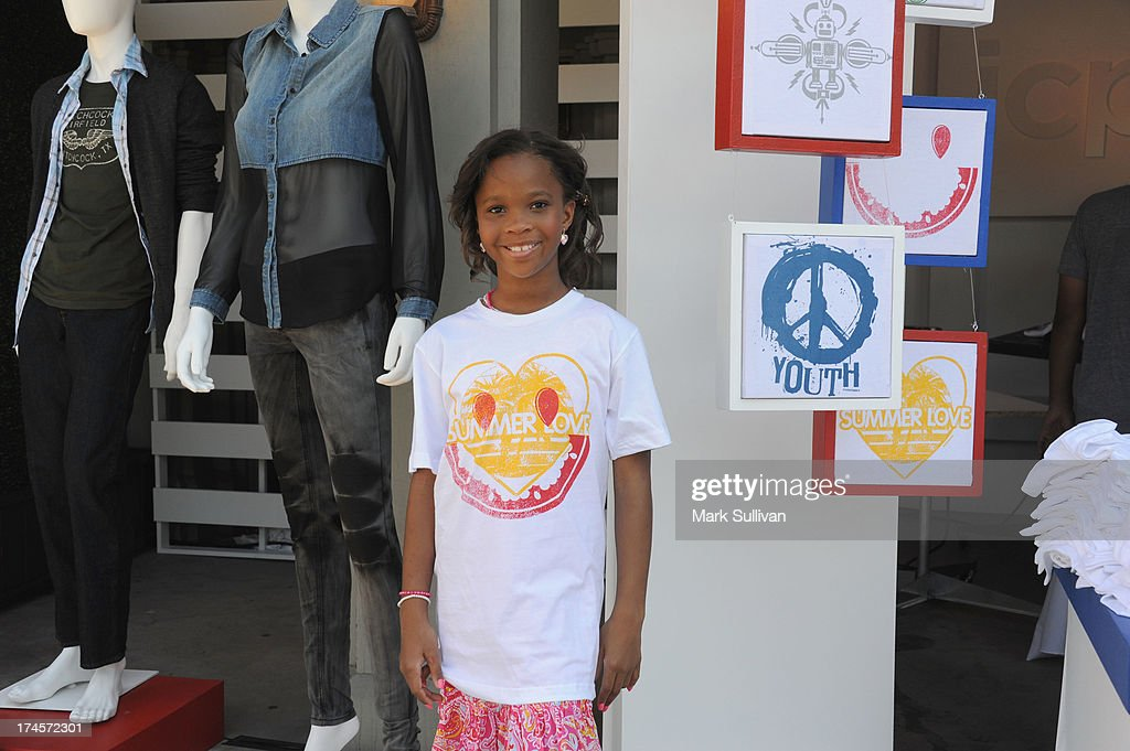 Actress Quvenzhane Wallis attends Variety's Power of Youth presented by Hasbro Inc and generationOn at Universal Studios Backlot on July 27 2013 in...
