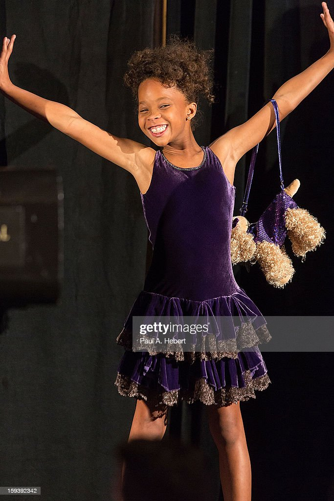 Actress Quvenzhane Wallis on stage at the 38th Annual Los Angeles Film Critics Association Awards held at the InterContinental Hotel on January 12, 2013 in Century City, California.