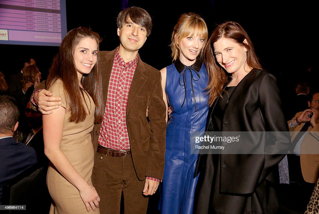 Actress Rachael Beame Comedian/Writer Demetri Martin CoHosts Judy Greer and Kathryn Hahn attend the Zimmer Children's Museum Discovery Award Dinner...