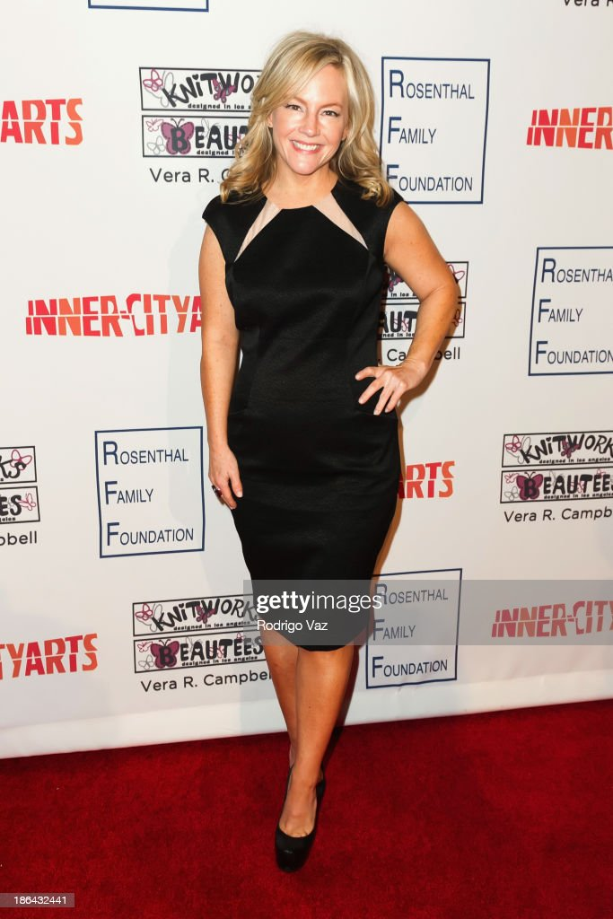 Actress <a gi-track='captionPersonalityLinkClicked' href=/galleries/search?phrase=Rachael+Harris&family=editorial&specificpeople=240713 ng-click='$event.stopPropagation()'>Rachael Harris</a> attends the Inner-City Arts Imagine Gala at The Beverly Hilton Hotel on October 30, 2013 in Beverly Hills, California.