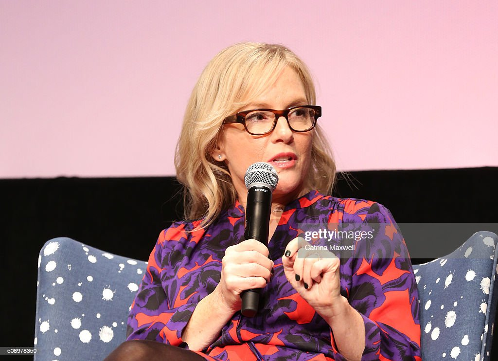 Actress <a gi-track='captionPersonalityLinkClicked' href=/galleries/search?phrase=Rachael+Harris&family=editorial&specificpeople=240713 ng-click='$event.stopPropagation()'>Rachael Harris</a> speaks at 'Lucifer' event during aTVfest 2016 presented by SCAD on February 7, 2016 in Atlanta, Georgia.
