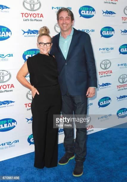 Actress Rachael Harris Waterkeeper Alliance Executive Director Marc Yaggi attend Keep it Clean Live Comedy Benefit for Waterkeeper Alliance at Avalon...