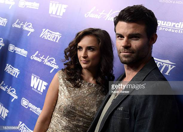 Actress Rachael Leigh Cook and Actor Daniel Gillies arrive at Variety and Women in Film PreEMMY Event presented by Saint Vintage at Scarpetta Beverly...