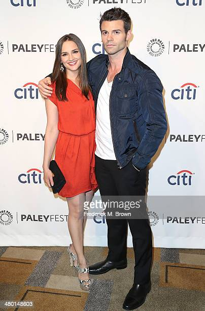 Actress Rachael Leigh Cook and actor Daniel Gillies attend The Paley Center for Media's PaleyFest 2014 Honoring 'The Vampire Diaries' and 'The...