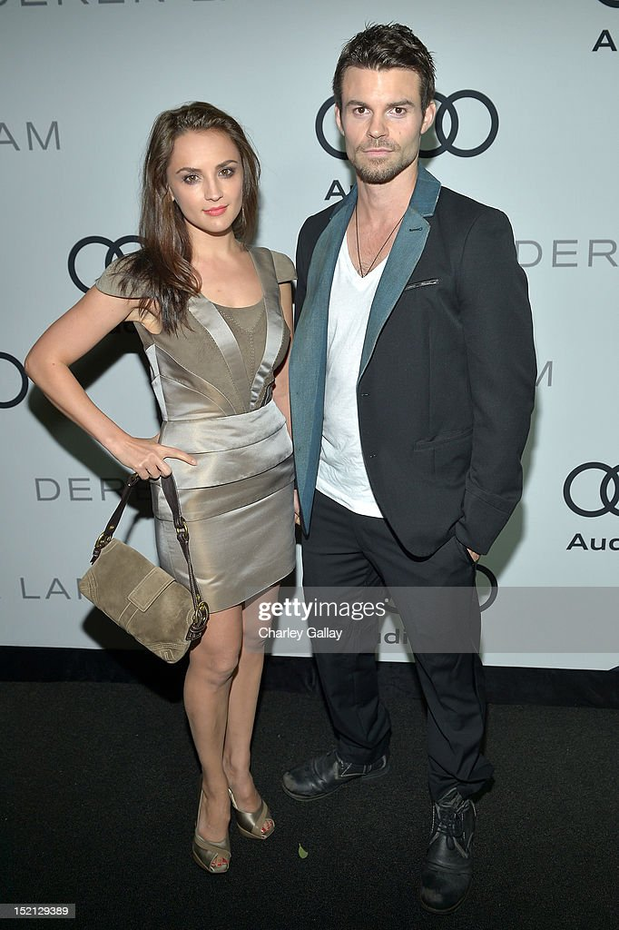 Actress Rachael Leigh Cook and Daniel Gillies attend Audi and Derek Lam Celebrate the 2012 Emmy Awards held at Cecconi's Restaurant on September 16...