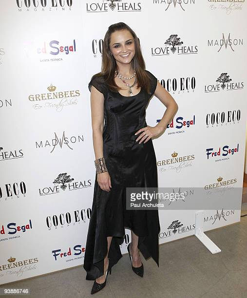 Actress Rachael Leigh Cook arrives at Fred Segal's Green Holiday charity event at Fred Segal on December 3 2009 in Santa Monica California