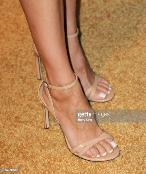 Actress Rachael Leigh Cook shoe detail attends LA Family Housing 2017 awards at The Lot on April 27 2017 in West Hollywood California